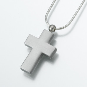 Pewter Cross Cremation Pendant