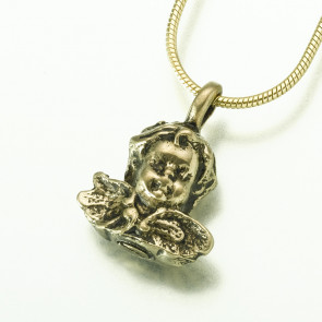 Antique Bronze Cherub Cremation Pendant