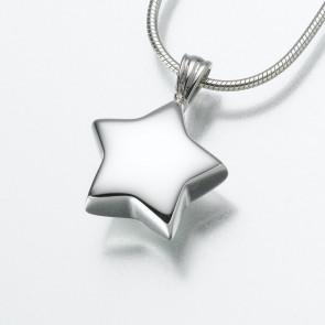 Star Cremation Pendant in Sterling Silver