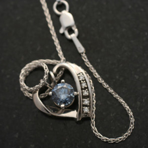 Heart Enhancer Pendant with Accent Diamonds