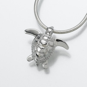 Turtle Cremation Pendant in Sterling Silver