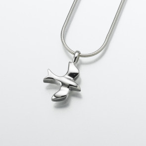 The Dove Cremation Pendant in Sterling Silver
