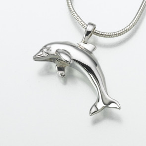 Dolphin Cremation Pendant in Sterling Silver
