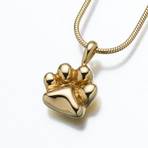 The Paw Cremation Pendant in Gold