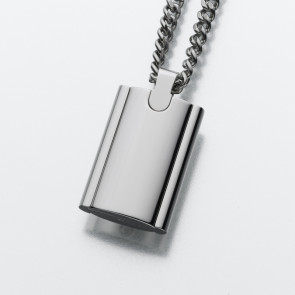 Slide Rectangle Stainless Steel Cremation Pendant