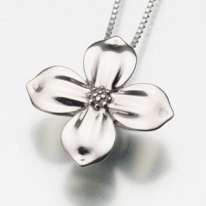 Dogwood Blossom Cremation Pendant in Sterling Silver