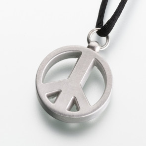 Pewter Peace Sign Cremation Pendant