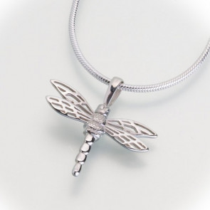 Dragonfly Cremation Pendant in Sterling Silver