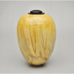 Hand Turned Box Elder Urn