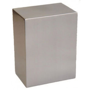 Pristine Stainless Steel Cube Urn