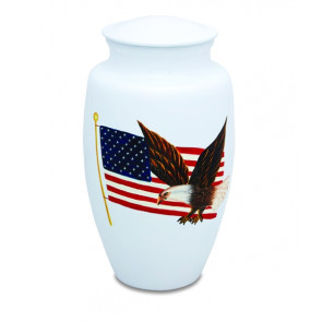 Patriotic Eagle Cremation Urn for Ashes