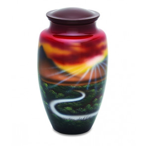 Meadow Scene Cremation Urn for Ashes