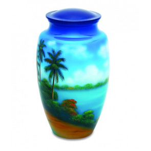Tropical Paradise Cremation Urn for Ashes