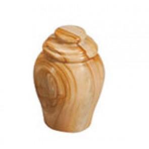 Teak Strata Marble Keepsake Urn