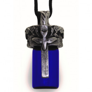 Peaceful Cross Bottle Pendant