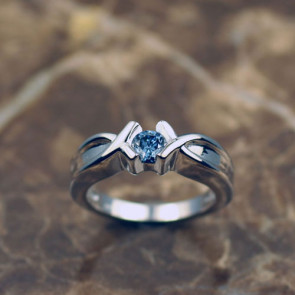 Round Cut Fancy Solitaire Ring