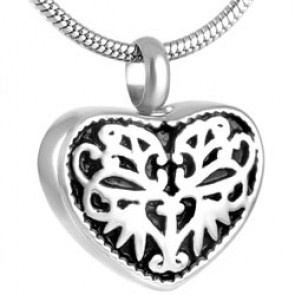 Ornate Heart Cremation Pendant