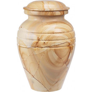 TeakWood Marble Urn (3 Sizes)