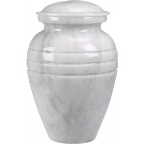 White Grain Marble Urn (2 Sizes)