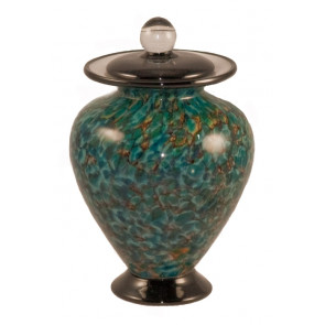 Amato Aegean Hand Blown Glass Pet Cremation Urn