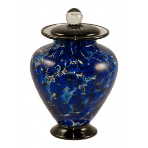Amato Water Hand Blown Glass Pet Cremation Urn