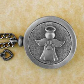 Angel Paws Pet Memory Cremation Medallion