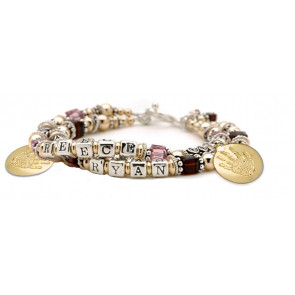Bali Gold and Silver Name Bracelet