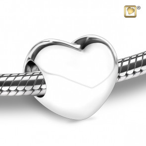 Silver LoveHeart Cremation Bead