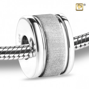 Silver Omega Two Tone Cremation Bead