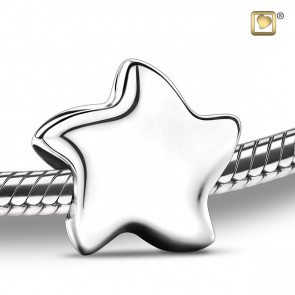 Silver Angelic Star Cremation Bead