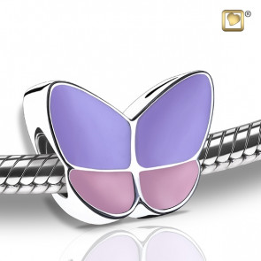 Wings of Hope Lavender and Pink Butterfly Cremation Bead