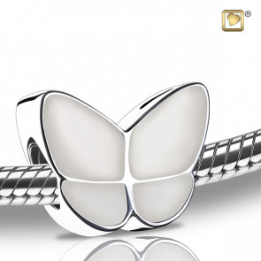 Wings of Hope Pearl White Butterfly Cremation Bead