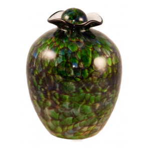 Bella Forest Hand Blown Glass Cremation Urn