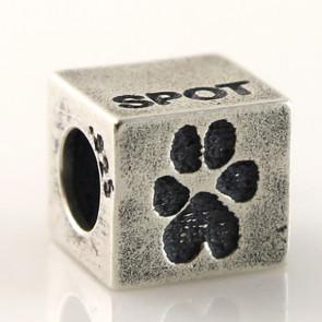 Buddies Cube Bead Pet Print Charm