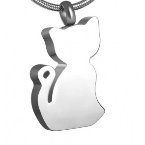 Cat Silhouette Cremation Pendant