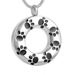 Circle of Paws Cremation Pendant