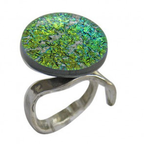 CL Blue Green and Gold Ring