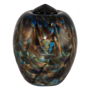 Classico Evening Hand Blown Glass Cremation Urn