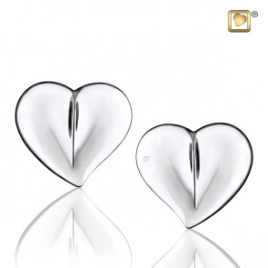Silver LoveHeart Stud Earrings