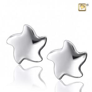 Silver Angelic Star Stud Earrings