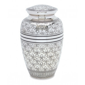 Fleur De Lis Cremation Urn for Ashes
