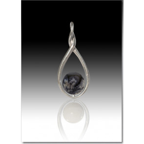 Melody Twist Cremation Pendant - Gray - Sterling Silver