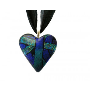 Heart Dichroic Glass Pendant #05