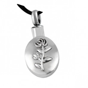 Oval Rose Cremation Pendant