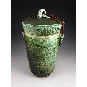 The Jade Stone Soda Fired Ceramic Cremation Urn