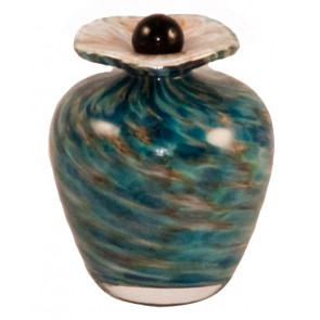 Bella Aegean Hand Blown Glass Keepsake Cremation Urn