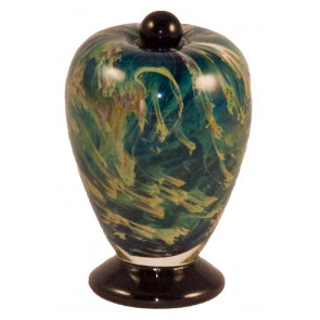Deco Nuvole Hand Blown Glass Keepsake Cremation Urn