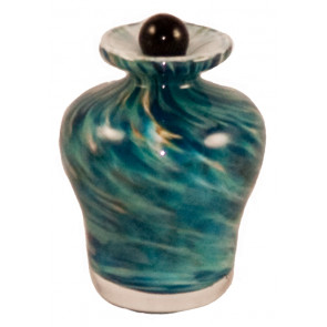 Luce Aegean Hand Blown Glass Keepsake Cremation Urn