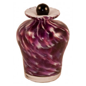 Luce Mauve Hand Blown Glass Keepsake Cremation Urn