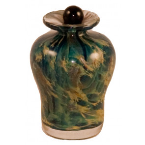 Luce Nuvole Hand Blown Glass Keepsake Cremation Urn